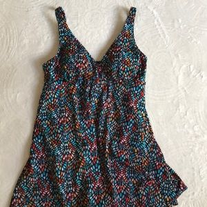 Croft & Barrow printed one piece swimsuit sz 12